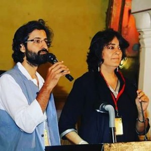Speaking at SAARC Sufi Fest in Jaipur with Shabnam